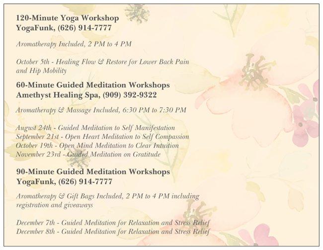 2019 Yoga and Meditation Workshops_Back